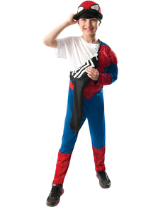 Reversible Ultimate Spiderman costume for a child
