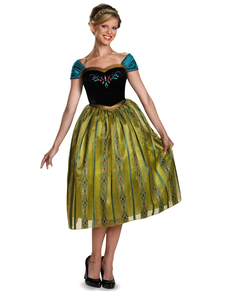 Womens Anna Frozen Coronation Deluxe Costume